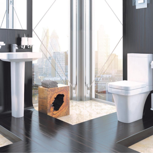 Supreme 600 4 Piece Toilet & Basin Bathroom Suite - 1 Tap Hole